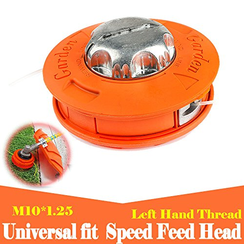 Ball's Outdoor Alloy Universal Twister Bump Feed Line Trimmer Head Whipper Brush Cutter Brushcutter, Thread Size M10x1.25 Left Hand Lawn Mower - Line Trimmer Head