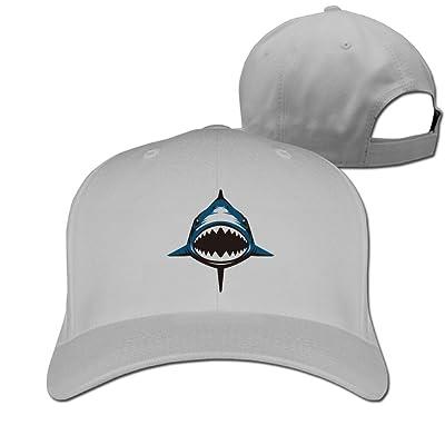 DMN Unisex Shark Baseball Hip-Hop Cap Vintage Adjustable Hats For Women and Men Black,One Size