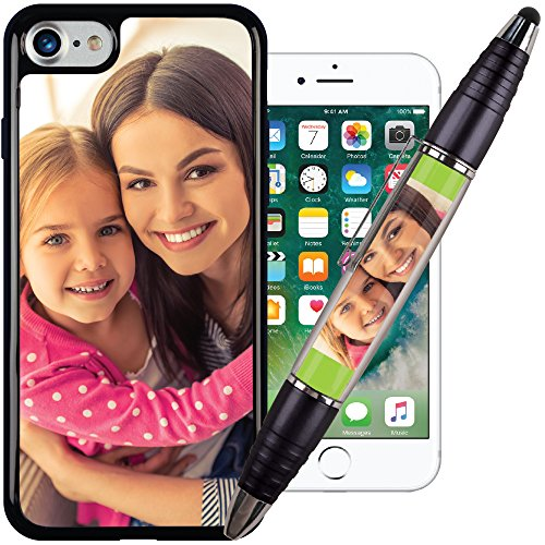 i8 / i7 PixCase amp Black PixStylus  Make A Personalized Set  Just Insert Photos or Design Your Own Inserts Online  Combination Pen/Stylus Paired with a Shock Absorbing Case