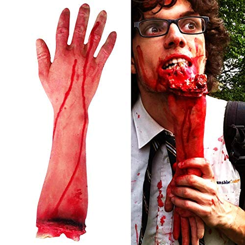 Fullsexy Terror Severed Bloody Fake Arm Hand for Halloween Party Props Decorations -