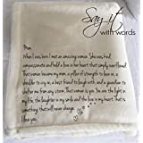 Fleece Throw Blanket for Mom, a very special message