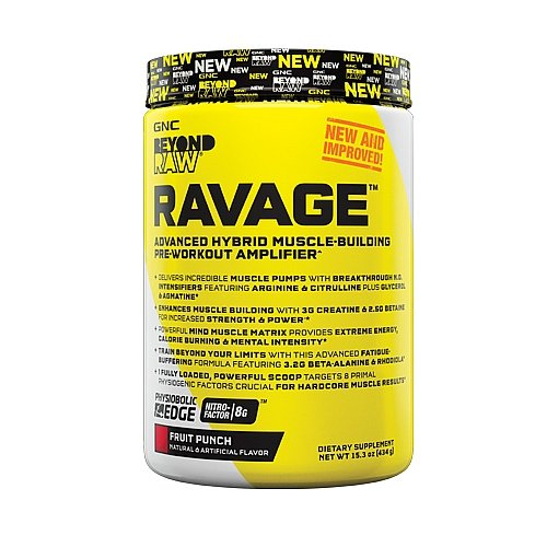 Amazoncom Gnc Beyond Raw Ravage Fruit Punch 434 G Health