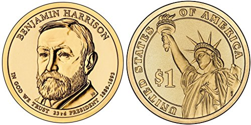2012 P Benjamin Harrison, 25-coin Bankroll of Presidential Dollars (Harrison Presidential Dollar Coin)
