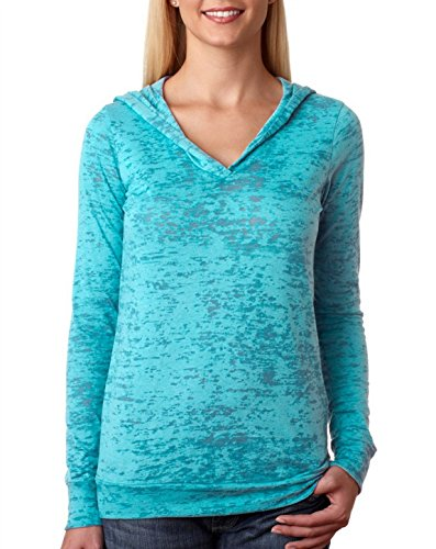Bodek And Rhodes 62745646 6521 Next Level The Burnout Hoody Tahiti Blue - Extra Large
