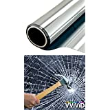 VViViD 12 Mil Clear Safety Anti-Shatter Film Window Protection Vinyl - Choose Your Size (30 Inch x 6.5ft)