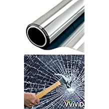 """VViViD Clear Protective 4mil Vinyl Window Glass Wrap Shatterproof Security Film 17.75"""" x 60"""" Roll"""