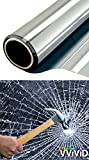 VViViD Clear Protective 4mil Vinyl Window Glass Wrap Shatterproof Security Film Roll (600'' x 60'' (Bulk Roll))