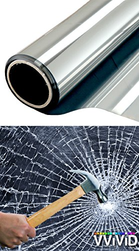 VViViD Clear Protective 4mil Vinyl Window Glass Wrap Shatterproof Security Film Roll (600'' x 60'' (Bulk Roll)) by VViViD