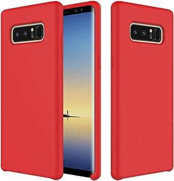 Leton Funda para Samsung Galaxy Note 8, Líquido de Silicona Carcasa Samsung Galaxy Note 8, Anti-Huella Digital con Suave Almohadilla de Forro de Tela de Microfibra, Funda Liquida Silicona Rojo: Amazon.es: Electrónica