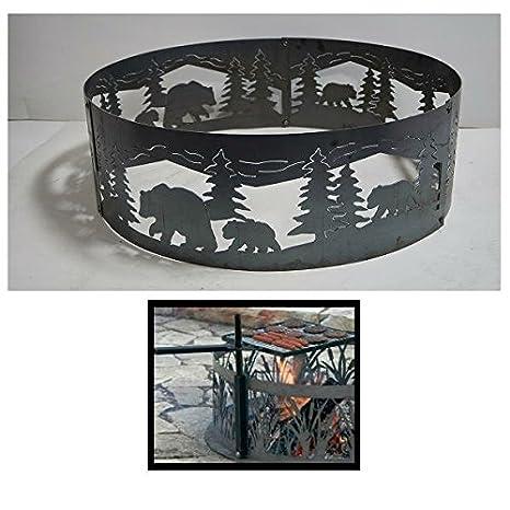 PD metales acero hoguera anillo de Fuego Bears N Cubs ...