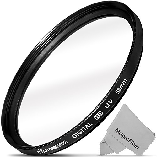 58mm Altura Photo UV Ultraviolet Lens Filter for Canon Rebel T6i T6s T5i T4i T3i T3 T2i T1i XT XTi XSi SL1, EOS 700D 650D 600D 1100D 550D 500D 100D from Altura Photo