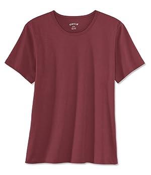 Orvis Women's Cotton Tee Shirt / Short-sleeved Tee, White, Medium
