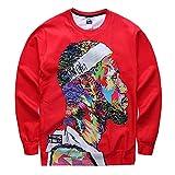 CHIC Harajuku style Women Men Star Jordan 3D Sweatshirt Pullover (L)