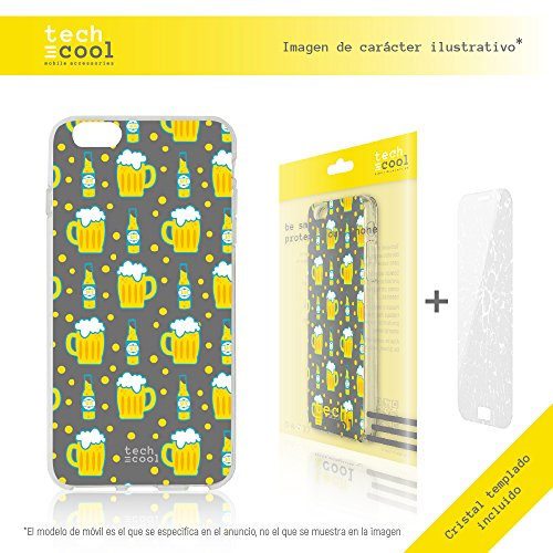 Iphone 6 Plus / 6S Plus Coque, Funnytech® Housse premium Souple TPU Silicone pour Iphone 6 Plus / 6S Plus + Verre trempe l [couleurs très vives] [Design exclusif, Impression haute définition] [1.5mm]