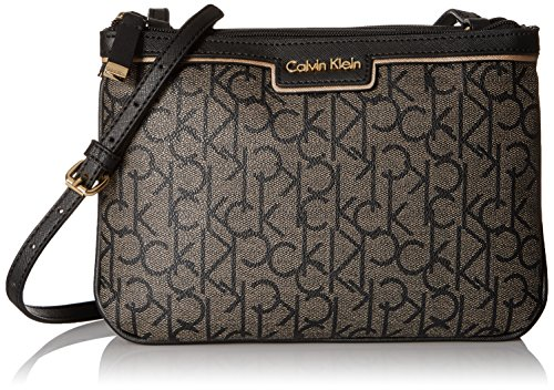 Calvin Klein Signature Crossbody, Text Khaki/…