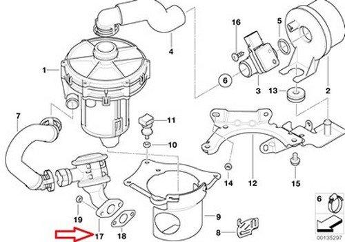 BMW OEM Control Valve Emission Control E46 E83 11 72 7 553 066 325Ci 325i 325xi 330Ci 330i 330xi X3 2.5i X3 3.0i