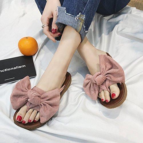 ITTXTTI Zapatillas de Verano de Las Mujeres Nuevas Salvajes Planas Flip-Flops Flojas de la Moda Pellizcar Sandalias de Playa D