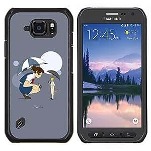 """Be-Star Único Patrón Plástico Duro Fundas Cover Cubre Hard Case Cover Para Samsung Galaxy S6 active / SM-G890 (NOT S6) ( Funy Cat & Girl"""" )"""