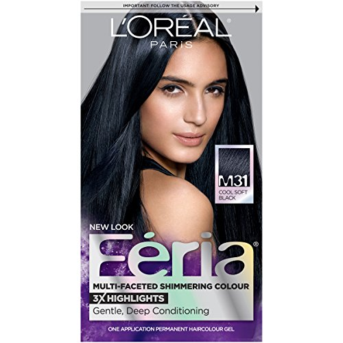 Feria Midnight Collection Hair Color, M31 Cool Soft Black (Packaging May Vary)