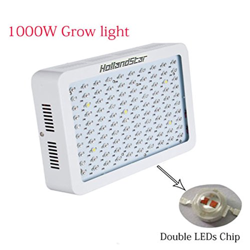 HollandStar® LED Grow Light 1000W,Plant Grow Lights/Growing Bulbs For Garden Greenhouse and Hydroponic Full Spectrum Growing Lamps in 9 Bands