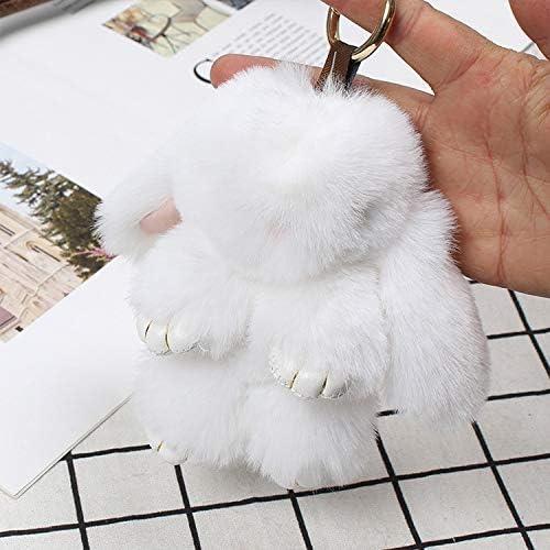 Amazon.com: MANGMOC - Llavero de peluche, diseño de conejo ...