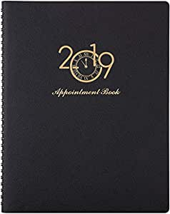 """2019 Weekly Appointment Book/Planner - 2019 Planner with Tabs & to Do List to Achieve Your Goals & Improve Productivity, Julian Dates, 8.5"""" x 11"""", Christmas Gift, Black by Artfan"""