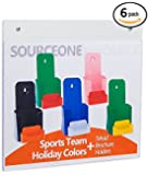 SourceOne Deluxe 11 x 8 1/2-Inch Wall Mount Sign Holders with Holes, 6 Pack