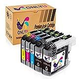 Ink Cartridge ONLYU LC203 LC203XL High Yield Compatible For Brother C-J460DW MFC-J480DW MFC-J880DW MFC-J4420DC-JW MF4620DW MFC-J5520DW MFC-J5720DW MFC-J680DW 5 Pack(2B1M1C1Y)