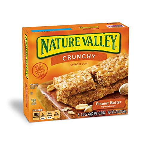 Nature Valley Granola Bars, Crunchy, Peanut Butter, 1.49 Ounce, 12 Bars (24 Boxes) by Nature Valley (Image #1)