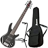 Ibanez GSR206 6 String Electric Bass Black w/ Gig Bag and Stand
