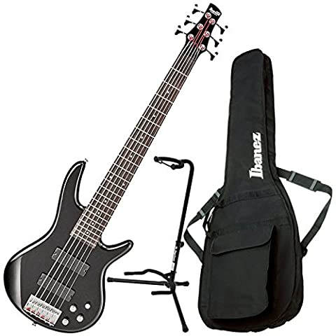 Ibanez GSR206 6 String Electric Bass Black w/ Gig Bag and Stand (Bass Gig Bag Ibanez)