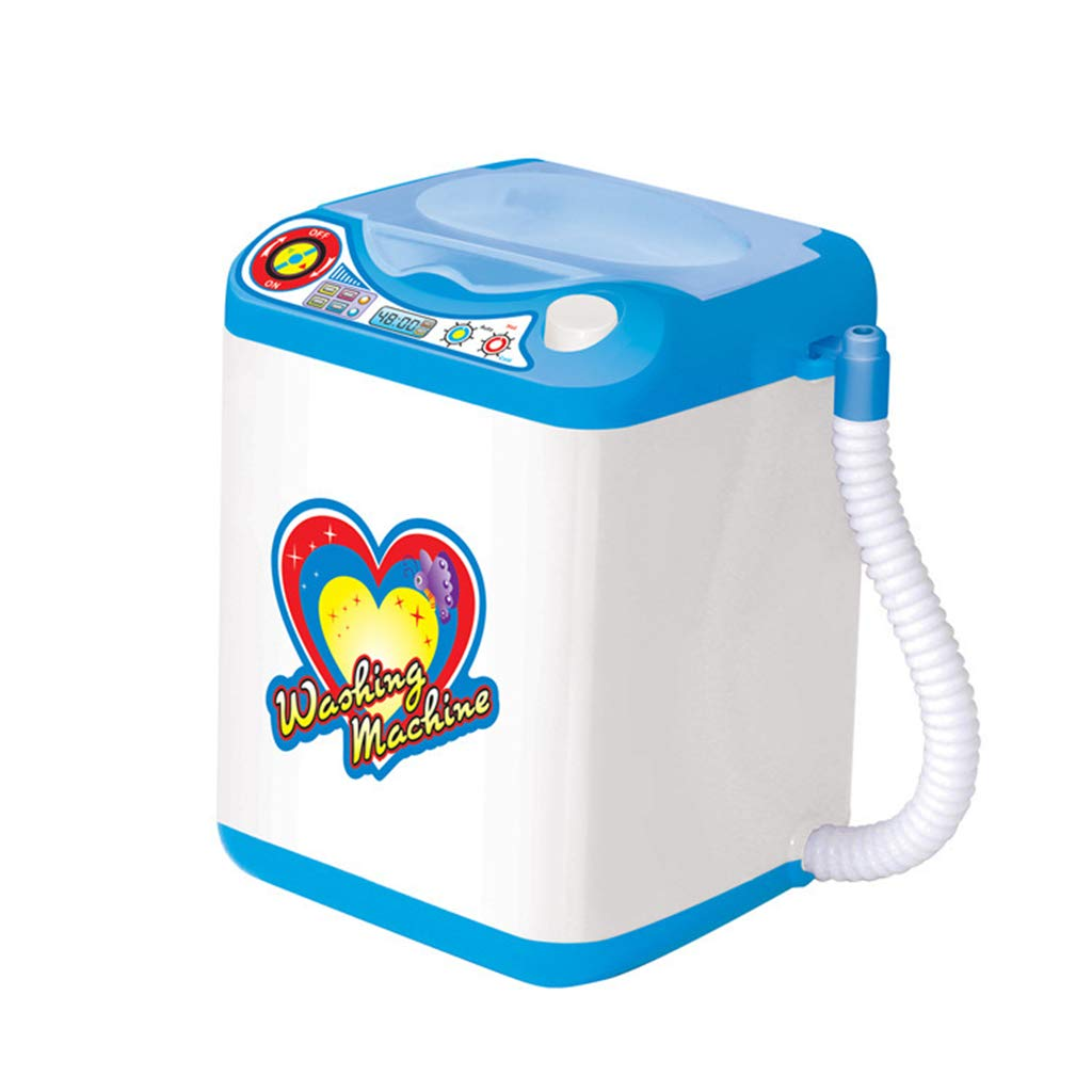Bleu Brosse de Maquillage Lavage Nettoyage only y Mini Machine /à Laver /éponge et Poudre Puff Puff Laver automatiquement Tiktok Toy Simulation Machine /à Laver Toy