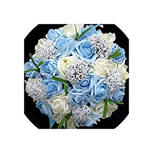 meet-you Bride Holding Flowers,Romantic Wedding Colorful Bride 's Bouquet,red Pink Blue and Purple Bridal BouquetsPurple,Photo Color big9 85
