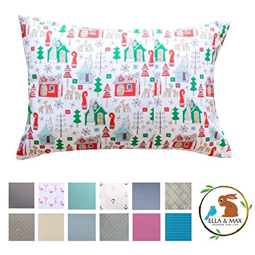 Christmas Ella & MAX Toddler Pillowcase. Soft & Cuddly. Fits 13×18 & 14×19 Toddler Pillows. Easy to wash & no Ironing…