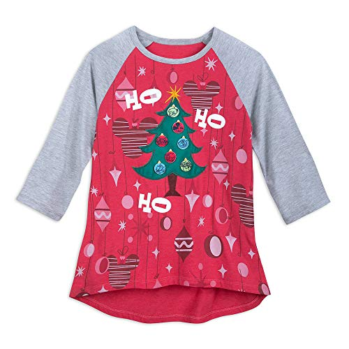 The Halloween Tree Disneyland (Disney Mickey Mouse DIY Holiday Tree Raglan Shirt for Women Size Ladies 2XL)
