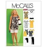 MCCALL 's Patterns M5640Mujer Tops, Vestidos, Pantalones Cortos y Pantalones Capri, Neutral, RR (18W-20W-22W-24W), 1