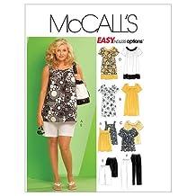 McCall's Patterns M5640 Women's Tops, Dresses, Shorts and Capri Pants, Size KK (26W-28W-30W-32W)