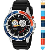 Fossil Men's LE1046 Special Edition Crewmaster Mariner Chronograph Black Silicone Watch