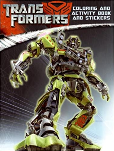 transformers coloring and activity book and stickers lana jacobs 9780060888268 amazoncom books - Transformers Coloring Book