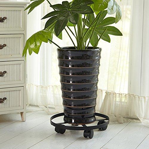 Amagabeli HEAVY Black Plant Caddy product image