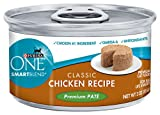 Purina ONE Cat Food Classic Chicken Recipe Premium Pate, 3-Ounce (Pack of 24), My Pet Supplies