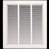 18'' X 20 Steel Return Air Filter Grille for 1'' Filter - Removable Face/Door - HVAC DUCT COVER - Flat Stamped Face - White [Outer Dimensions: 20.5''w X 22.5''h]