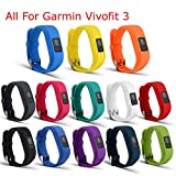 I-SMILE Replacement Wristband With Secure Clasps for Garmin Vivofit 3 Only(No tracker - Replacement Bands Only)