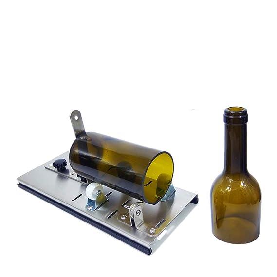 Cortador De La Botella De Cristal, Máquina Del Cortador De La Botella Del Creador Bricolaje Corta Botellas De Vino De Cristal: Amazon.es: Bricolaje y ...