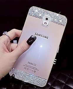 Samsung Galaxy S5 Funda Style, Lujo delgado ultra fino de la belleza de aleación de aluminio de Bumper del metal de la cubierta con Cristal Diamante Back Panel Case Cover para Samsung Galaxy S5 - Oro (Gold)