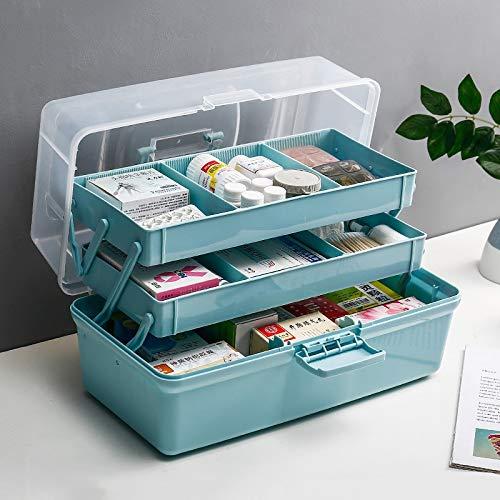 Xuping shop 分けられたコンパートメントが付いている医学のキャビネット、救急箱の緊急のキット箱の収納容器箱 (サイズ さいず : M m) M m  B07RSP7583