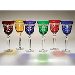 Amazon.com | Colored Crystal - Flared Wine Glass Drape ...