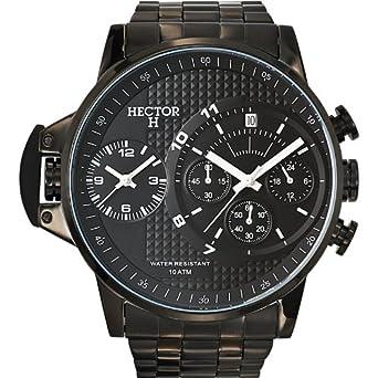 Hector H Herren-Armbanduhr Analog Quarz Schwarz 667126