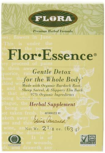 Flor Essence Detox Dry Tea Blend - Gentle Daily Herbal Cleanse - All Natural 90% Organic Ingredients - 2 1/8 oz - by Flora (Best Essiac Tea Reviews)