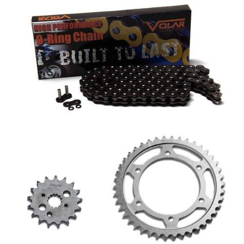 1996-2005 Kawasaki Vulcan 800 VN800B Classic O-Ring Chain and Sprocket Kit Black